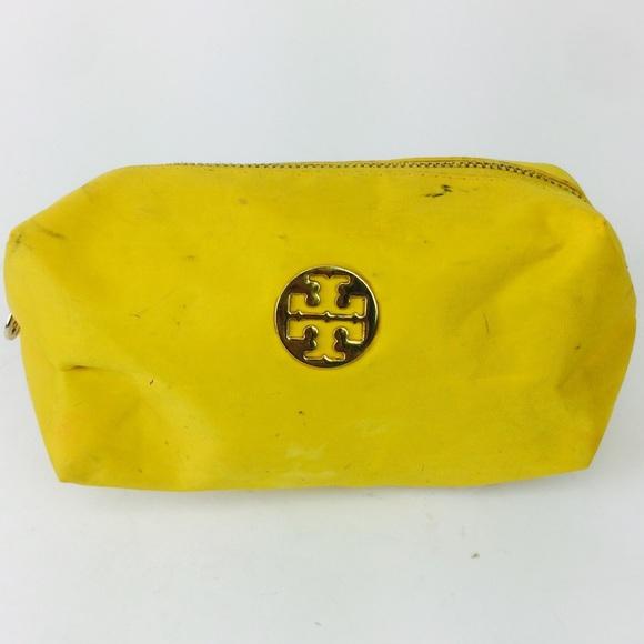 3208c947dd Tory Burch Yellow Cosmetic Make Up Bag. M_5ad7ec7eb7f72ba6375a6f8d